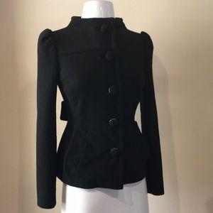 PRADA black stretch fitted wool jacket blazer 38